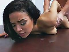 Black Babe Maya Bijou Rides Cock
