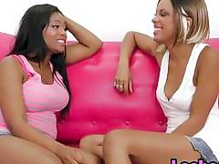 Horny Black Lesbians Scissor and Lick Their Juicy Pussies