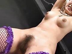 Horny Asian pussy stroking