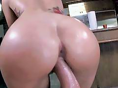 Ebony slut Chanell Heart fucking hard