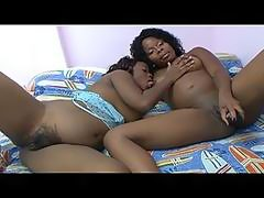 Naughty pregnant ebony lesbian sluts sharing huge toy