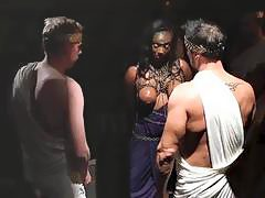 Black bitch gets brutally fucked and put back in her place by multiple men