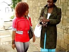 Black dykes from Africa tease their tight cunts in various was